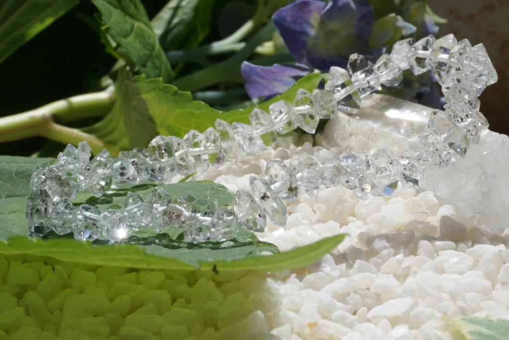 ハーキマーダイヤモンドのブレスレット