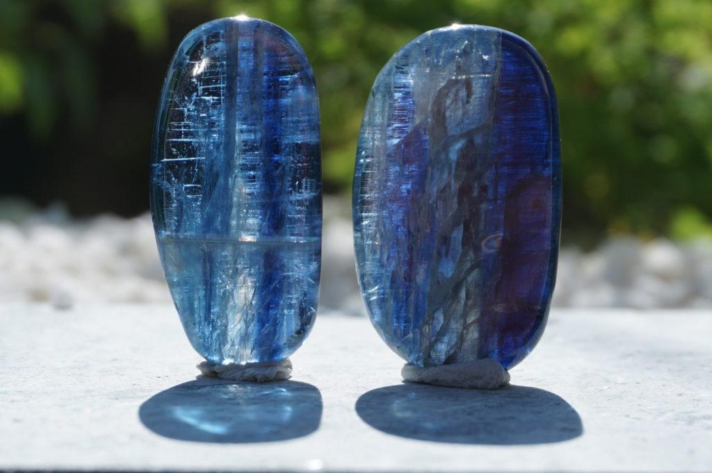 ネパール産「 カイヤナイト ポリッシュ2個セット」