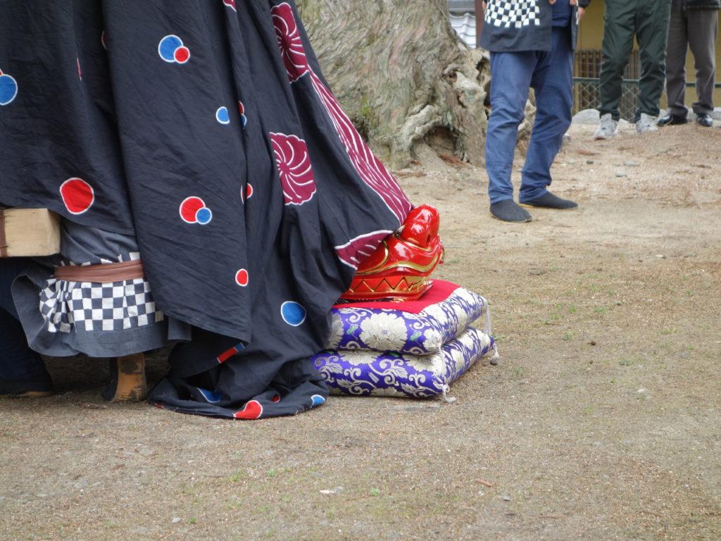 玉垣からの風景㊱下市田「萩山神社の春の例大祭」