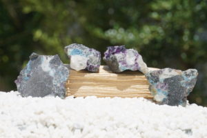 ロシア産「フェナカイト・アクアマリン・パープルフローライト共生の原石」と「原石スライス」【希少】入荷しました-02
