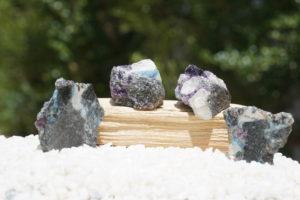 ロシア産「フェナカイト・アクアマリン・パープルフローライト共生の原石」と「原石スライス」【希少】入荷しました-04