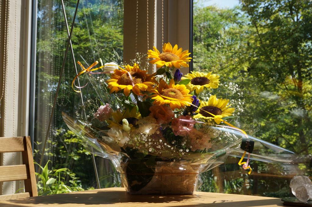 玉垣からの風景 素敵なお花をいただきました