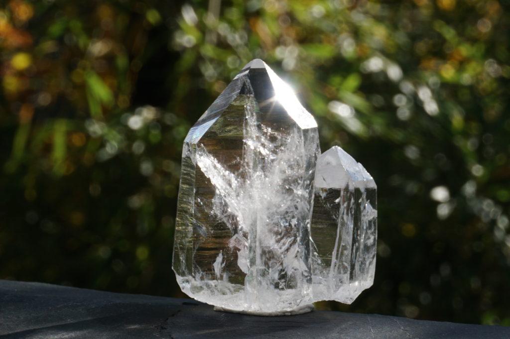 「コロンビアレムリアン水晶」連晶