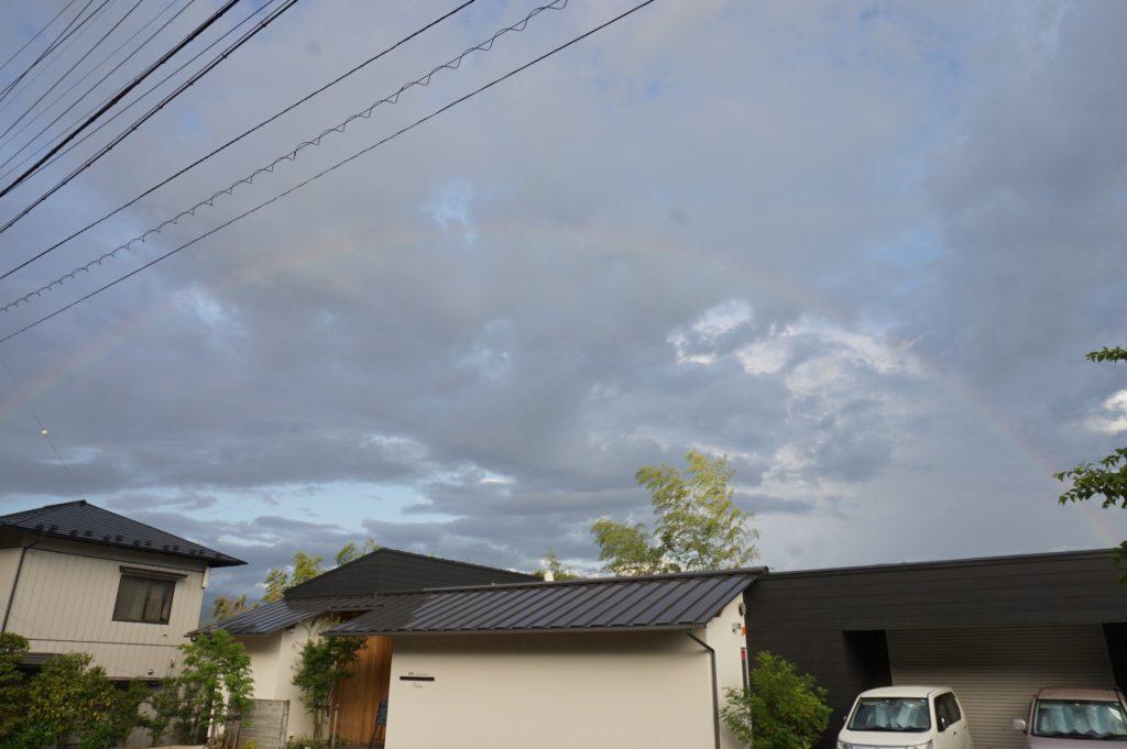 玉垣からの風景 虹と天使の梯子